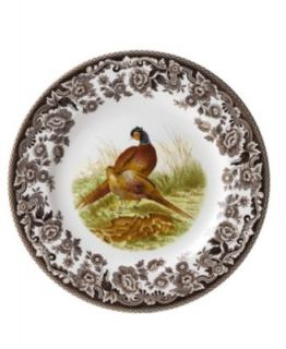 Woodland by Spode 5 Piece Place Setting with Pheasant Dinner Plate   Casual Dinnerware   Dining & Entertaining
