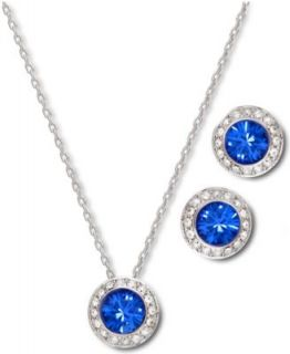 Swarovski Jewelry Set, 22k Gold Plated Crystal Pendant Necklace and Drop Earrings   Fashion Jewelry   Jewelry & Watches