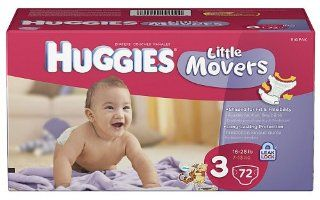 Huggies Little Movers Diapers Size 3, 186 Count Health & Personal Care