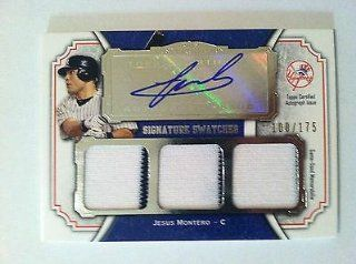 Jesus Montero Autographed Jersey   2012 Topps Museum Collection Triple #100 175   MLB Autographed Game Used Cards: Sports Collectibles
