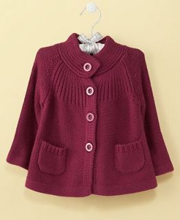 First Impressions Baby Jacket, Baby Girls Button Front Sweater Jacket   Kids