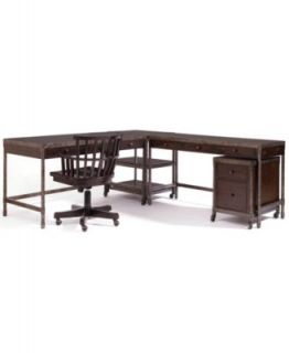 Structure Home Office Furniture, 4 Piece Set (Credenza Desk, Writing Desk, Corner Table and File Cabinet)   Furniture