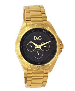 D&G Watch, Mens Gold Ion Plated Stainless Steel Bracelet DW0653   Watches   Jewelry & Watches