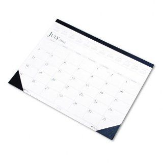 "Recycled 14 Month Calendar Desk Pad, Jul Aug, 22""x17"", Dark Blue HOD155HD  Office Desk Pad Calendars"