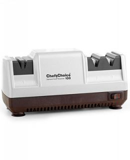 Chefs Choice Electric 100 Knife Sharpener, 3 Stage Platinum   Cutlery & Knives   Kitchen