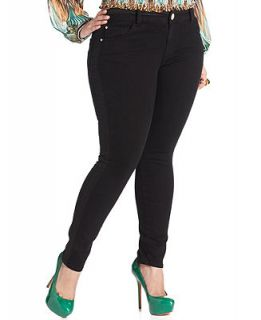 Baby Phat Plus Size Jeans, Yasmin Tuxedo Skinny, Black Wash   Jeans   Plus Sizes