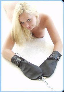KinkLab Leather Bondage Mittens: Health & Personal Care