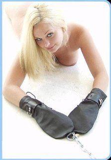 KinkLab Leather Bondage Mittens: Health & Personal Care