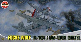 Airfix A05040 172 Scale Focke Wulf Mistel (Ta 154) (Fw 190A) Military Aircraft Classic Kit Series 6 Toys & Games