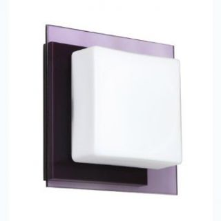 Besa Lighting 1WS 773591 BR Alex   One Light Wall Sconce, Choose Finish: BR: Bronze, Choose Lamping Option: 50W Halogen G9 Bi pin 120v