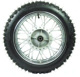 "Universal Parts 143 4 12"" Dirt Bike Rear Wheel Assembly: Automotive"