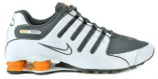 Nike Shox NZ White/Grey, Orange Mens Running Sneakers 378341 138 (10.5 M): Running Shoes: Shoes