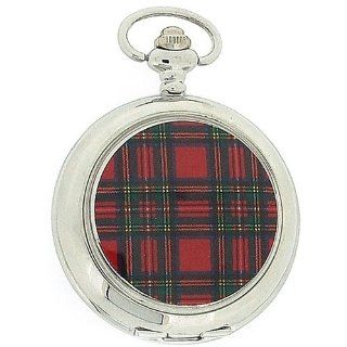 Pwl Tartan White Dial Unisex Dress Pocket Watch With 12 Chain Boxx138 at  Men's Watch store.