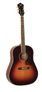 Recording King RAJ 126 SN Slope Shoulder Guitar, All Solid Sunburst: Musical Instruments