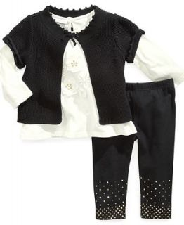 First Impressions Baby Set, Baby Girls 3 Piece Shrug, Tunic and Leggings   Kids