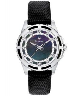 Bulova Womens White Lizard Leather Strap Watch 28mm 98P119   Watches   Jewelry & Watches