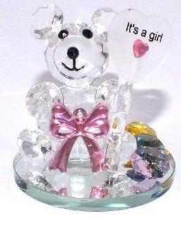 Crystal Girl Birthday Purple Bear Figure Figurine Designer Collection #108   Decorative Bowls