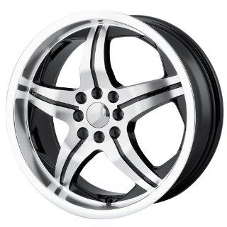 17x7 MPW Style MP107 (Black w/ Machined Face) Wheels/Rims 4x100/114.3 (MP107 7701B) Automotive