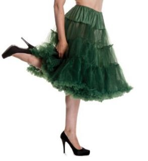 "Hell Bunny Bottle Green 25"" Petticoat XS M (US 4 8) at  Women�s Clothing store"
