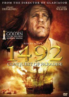 1492 Conquest of Paradise (1992) G�rard Depardieu, Armand Assante DVD G�rard Depardieu, Armand Assante, Sigourney Weaver, Ridley Scott Movies & TV