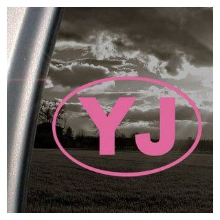 YJ EURO Pink Decal JEEP OFF ROAD WRANGLER Window Pink Sticker   Themed Classroom Displays And Decoration