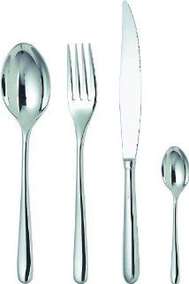 Caccia 24 Piece Flatware Set Table Fork Style 4 Prong, Type Standard