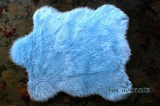 "60'' X70"" Faux Fur Rug / Baby Sky Light Blue Sheepskin Area Accent Toss / Throw Carpet / New"