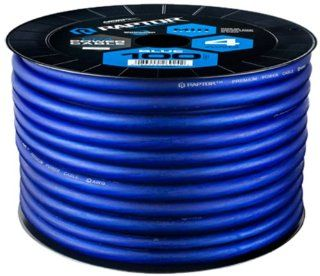 Raptor R44 100BL 100 Feet Mid Series Copper Clad Aluminum Power Cable, Blue  Vehicle Amplifier Power And Ground Cables