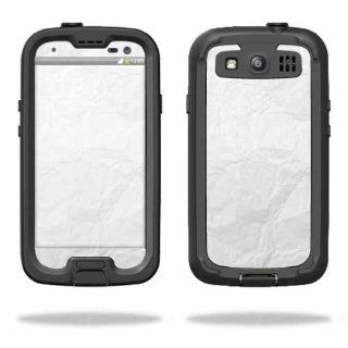 MightySkins Protective Vinyl Skin Decal Cover for LifeProof Samsung Galaxy S III S3 Case fre Sticker Skins Crumpled Paper: Cell Phones & Accessories