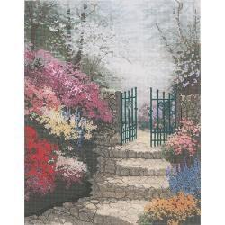 Thomas Kinkade The Garden Of Promise Counted Cross Stitch Kit MCG Textiles Cross Stitch Kits