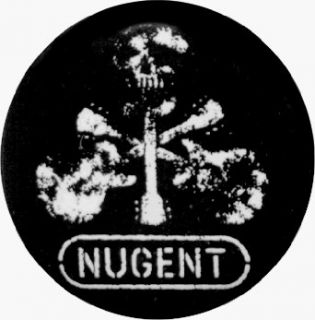 """Ted Nugent   Skull (Guitar Cross)   1.5"""" Button / Pin Novelty Buttons And Pins Clothing"""
