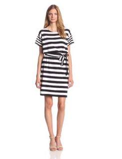 Jones New York Women's Boat Neck Belted Dress at  Women�s Clothing store: