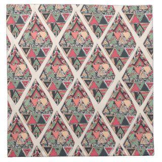 Bosquejo abstracto elegante de la forma del diaman servilletas de papel de