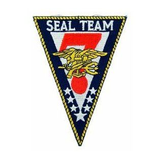 US Navy Armed Forces Military Large Stitch Only Patch   Seal Team 7 Logo Applique Clothing
