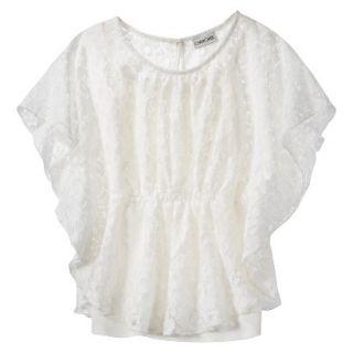 Cherokee Girls 3/4 Sleeve Shirt   Almond Cream M