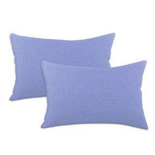 Chooty Duck Blue Bonnet 12 1/2 by 19 Inch KE Synthetic Down Like Fiber Pillow, Set of 2   Throw Pillows