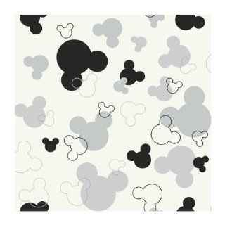 York Wallcoverings Disney Kids DK5929 Mickey Mouse Heads Wallpaper, White Background   Mickey Mouse Boarder
