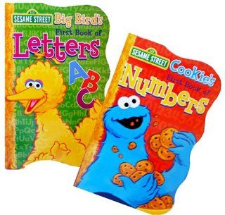 Sesame Streets First Board Books ~ Big Bird's Book of Letters & Cookie's Book of Numbers