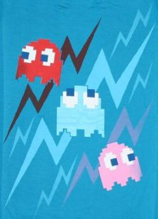 Pac Man Ghost Trio Junior T Shirt Blue Clothing
