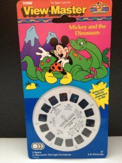 Disney's Mickey and the Dinosaurs 3D View Master 3 Reel Set Toys & Games