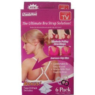 As Seen on TV   The Ultimate Bra Strap Solution Perfect Concealer Clips   Cleavage Control   6 Pack Plus Body Tape: Health & Personal Care