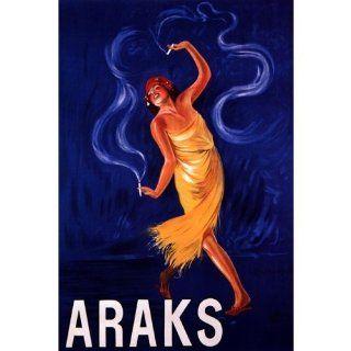 GYPSY GIRL SMOKING CIGAR ARAKS PARIS FASHION FRENCH VINTAGE POSTER CANVAS REPRO   Prints