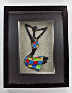 Black Lady African American Shadow Box Shadowbox 3D Wall Art X67119   Wall Sculptures