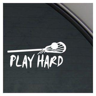 Play Hard Lacrosse Decal Car Truck Window Sticker