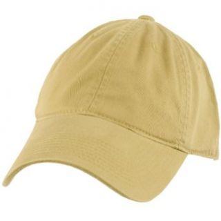 Cotton Twill Baseball Ball Cap Adjustable Hat Khaki at  Men�s Clothing store Plain Ball Cap
