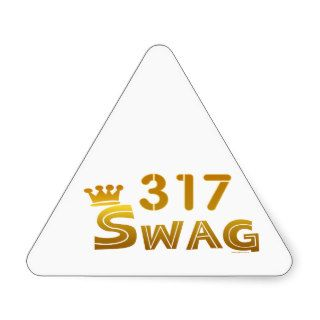 317 Indiana Swag Triangle Sticker