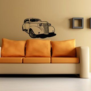 Car Auto Automobile Classic Retro Old Garage Wall Vinyl Decal Art Design Mural Modern Interior Decor Bedroom Sticker Removable Room Window (SV3383)