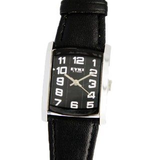 XINTE Woman's Vintage Number Dial Square PU Leather Band Quartz Wrist Watch Color Black: Sports & Outdoors