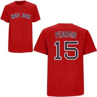Dustin Pedroia Red Sox Adult Red Name & NUmber T Shirt XXL  Sports Fan T Shirts  Sports & Outdoors