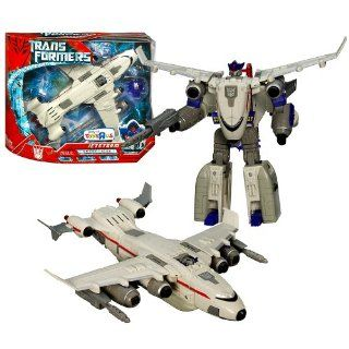 Hasbro Year 2007 Transformers Movie All Spark Power Series Ultra Class 9 Inch Tall Robot Action Figure   Decepticon JETSTORM with Electronic Lights and Sounds Plus Missile (Vehicle Mode Cargo Plane) Toys & Games